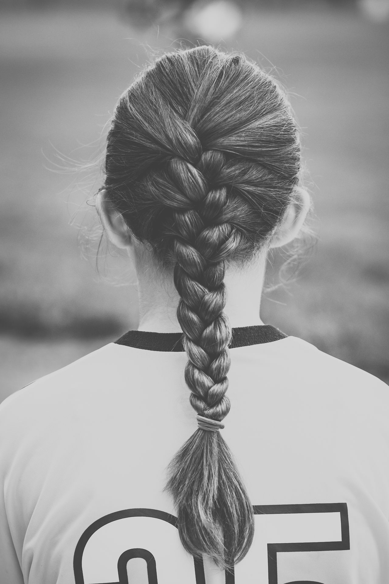 Beautiful stock photos of fußball, 10-11 Years, Braided Hair, Day, Female