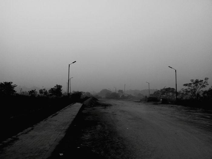 foggy dark day.