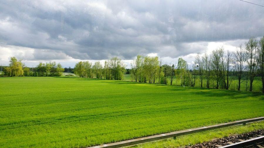 Cloud - Sky Train Green Color Nature Landscape