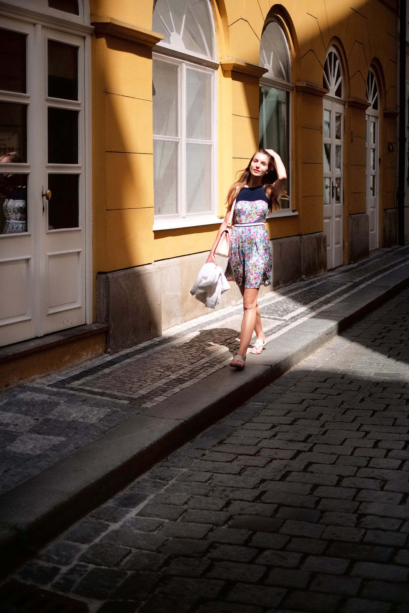 Barbora, Street Fashion Architecture Beautiful Woman Fashion Fashionable Lifestyles Light Light And Shadow One Person Outdoors Real People Street Street Fashion Street Photography Streetphotography Walking Women