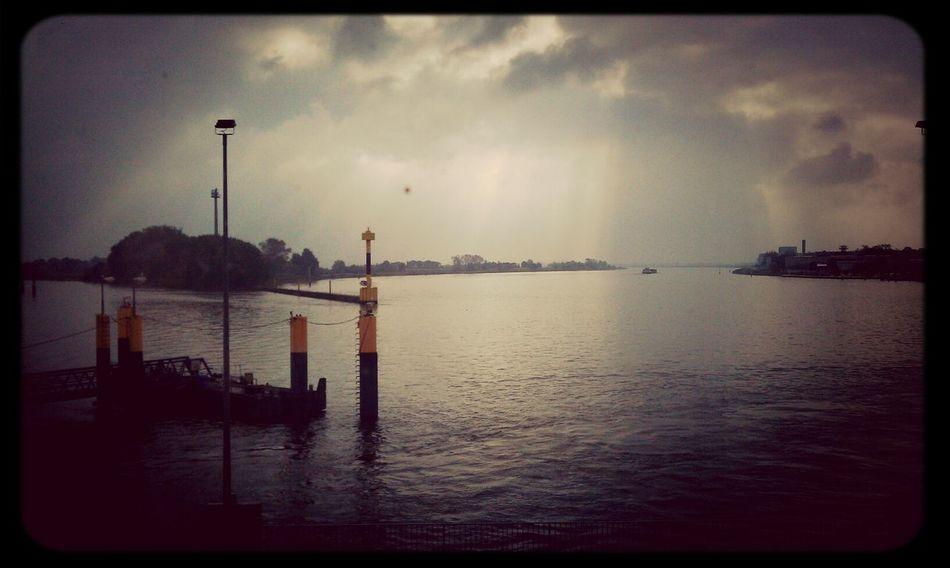 Ferry Sea Sick Landscape Bremen breme