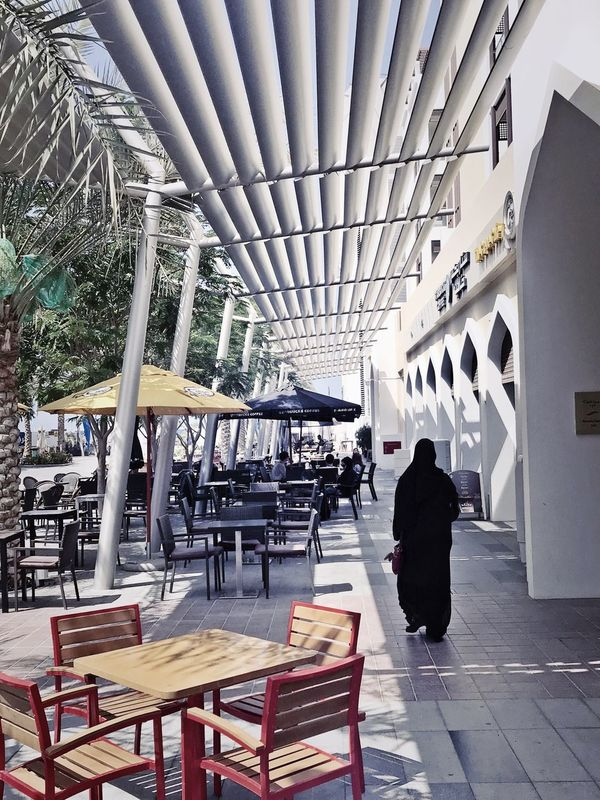 IPhone Photography IPhone7Plus Street Photography Omani Streets Omani Dress Omani Woman Visit Oman Shadows & Lights Infinity ∞ Cafe Culture Architecture_collection Architectural Detail outdoors Modern Old & New