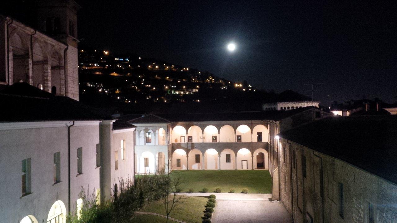 Monastry Brescia, Italy Kiosk Monastero Santa Giulia Moonlight Moon Full Moon Night