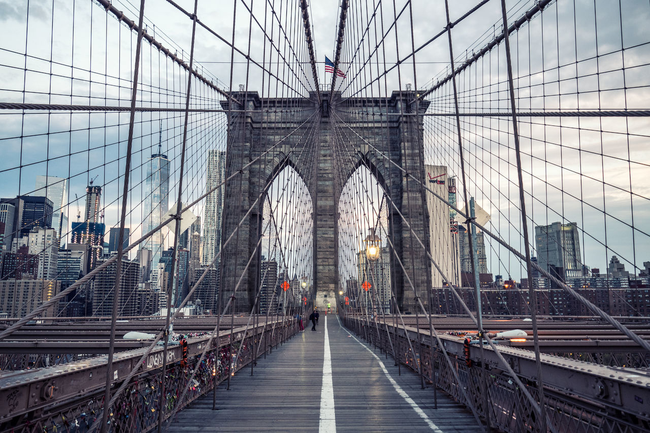 Architecture Bridge Bridge - Man Made Structure Brooklyn Bridge  Brooklyn Bridge / New York City Life Day Famous Landmarks Famous Places Manhattan Modern New York New York City No Peolp NYC NYC Photography Outdoors Sky Skyline Tourism Travel Travelphotography USA