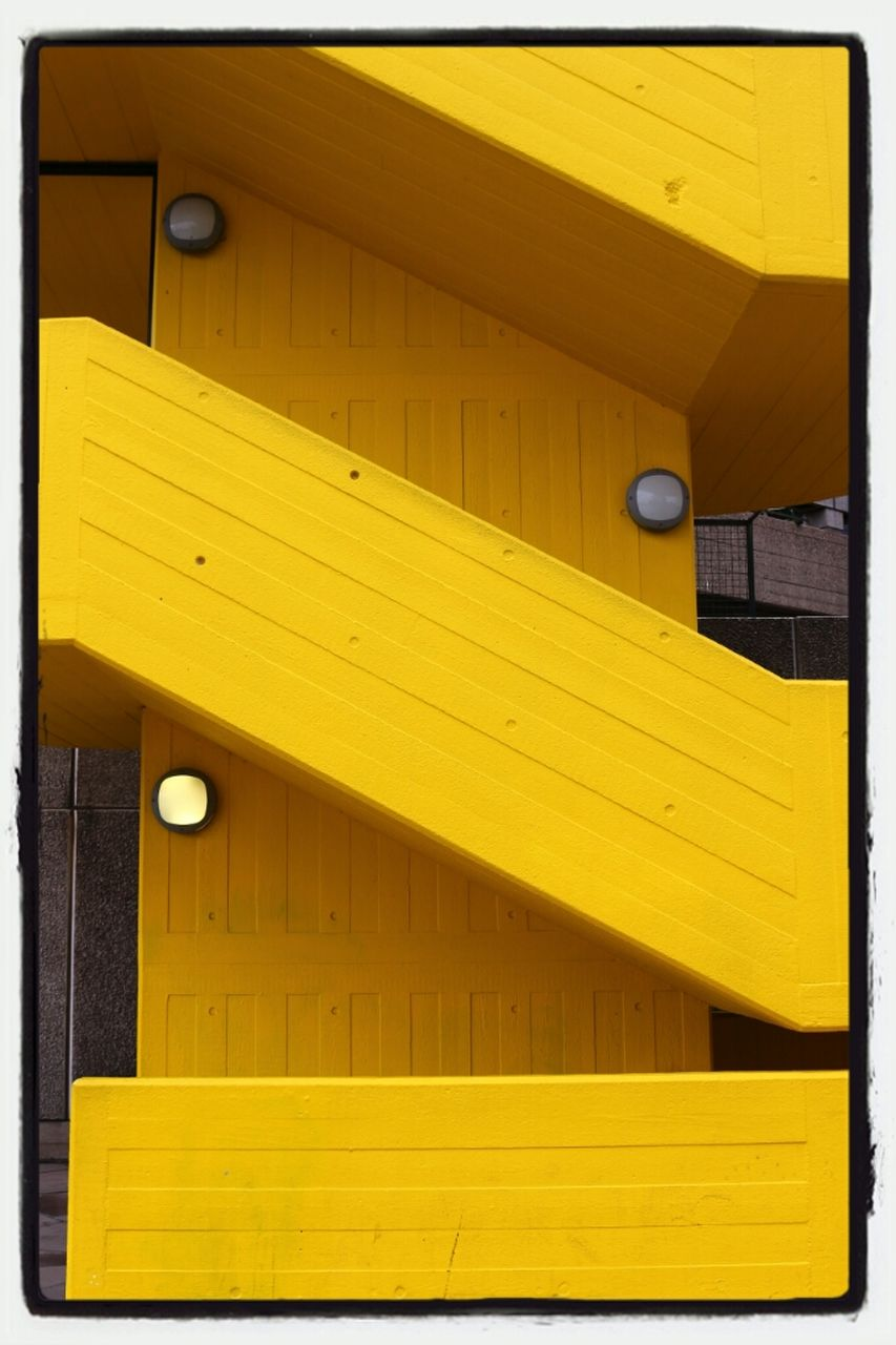 yellow, architecture, built structure, no people, wood - material, outdoors, building exterior, day, close-up