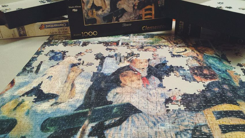 Fact about me: I love puzzles, they make me relaxed 😌 Puzzle  Renoir  Incomplete Art Relaxing Adults Only Check This Out EyeEm Gallery Italy Holiday Xmas Indoors  ArtWork Resolution Inspired