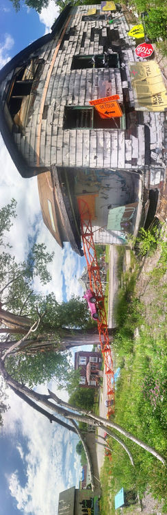 Panorama at The Heidelberg Project by marcelnaumann