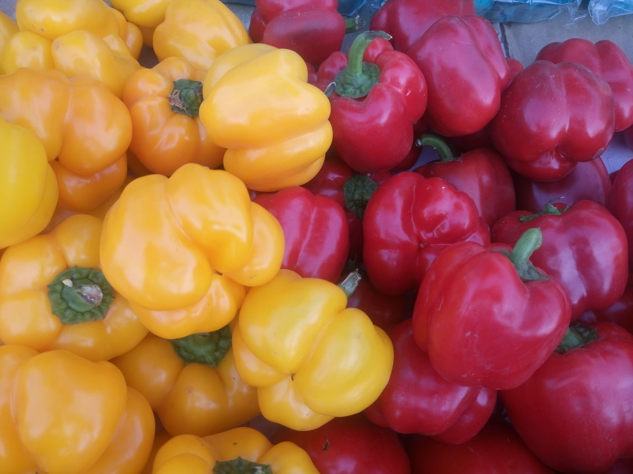 Backgrounds Bell Pepper Close-up Day Food Food And Drink Freshness Full Frame Healthy Eating No People Outdoors Red Red Bell Pepper Vegetable Yellow Yellow Bell Pepper
