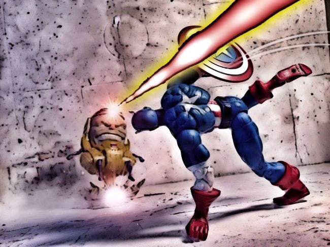 Captain America vs MODOK. Toybiz Marvellegends Marvel Toyphotography