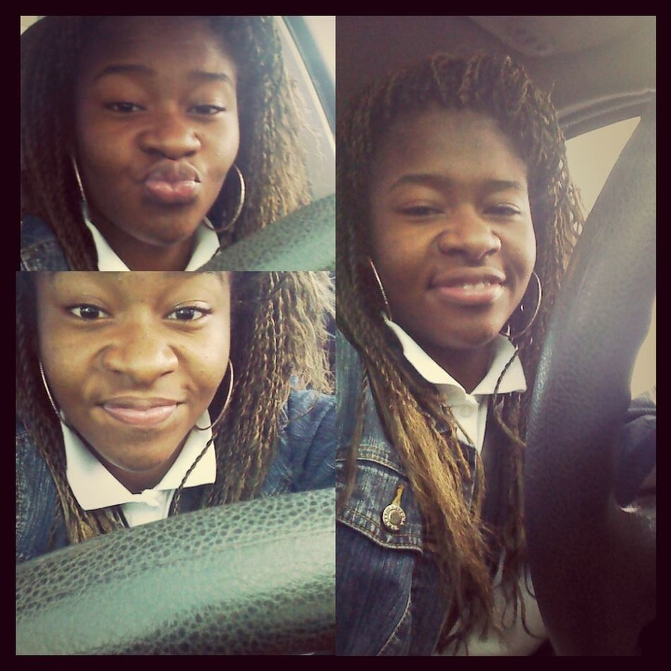 bored started tkin pics waitin fo moms to get out the store