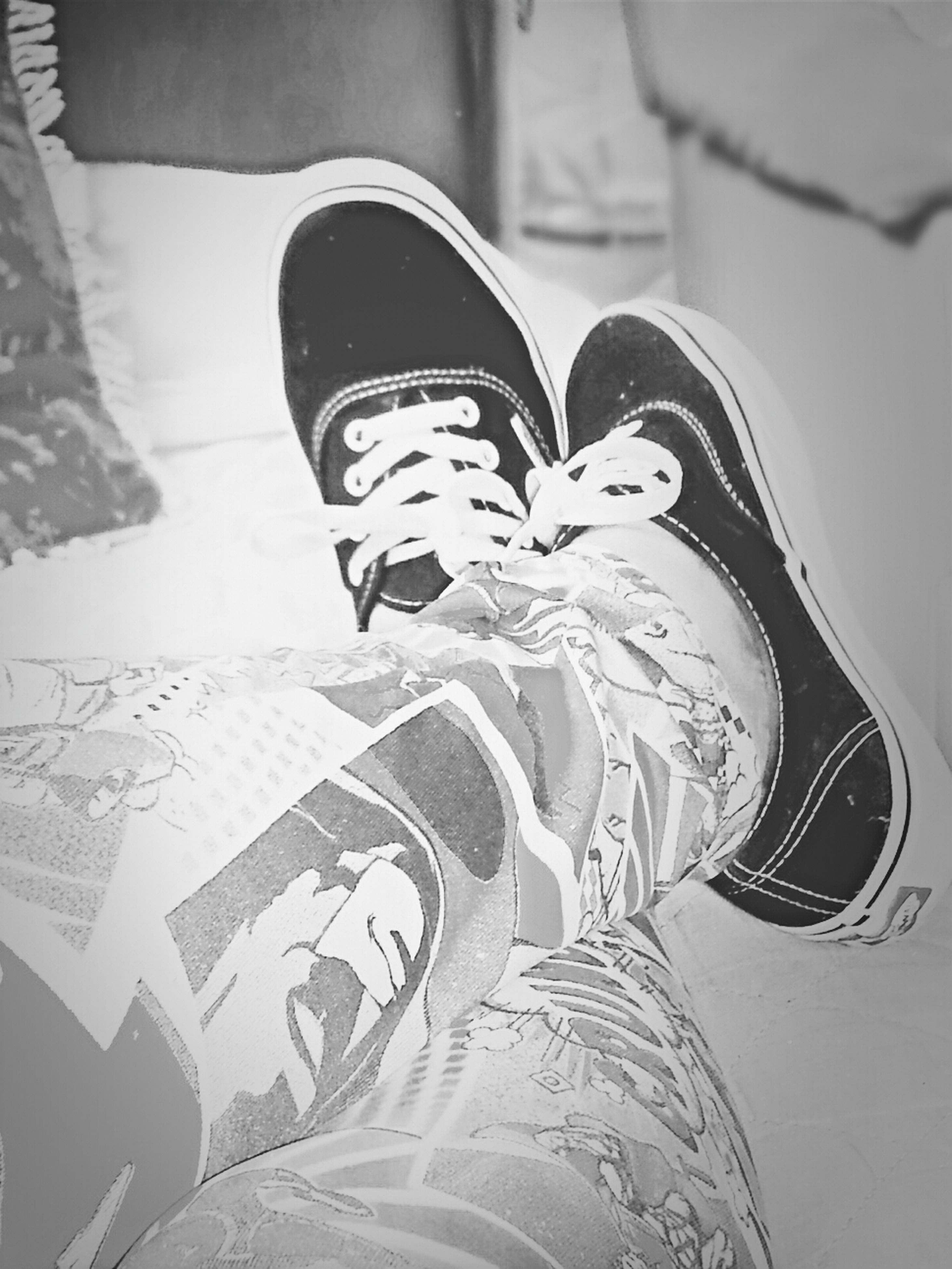 low section, shoe, person, lifestyles, standing, footwear, indoors, personal perspective, jeans, men, high angle view, leisure activity, fashion, casual clothing, day, close-up, human foot