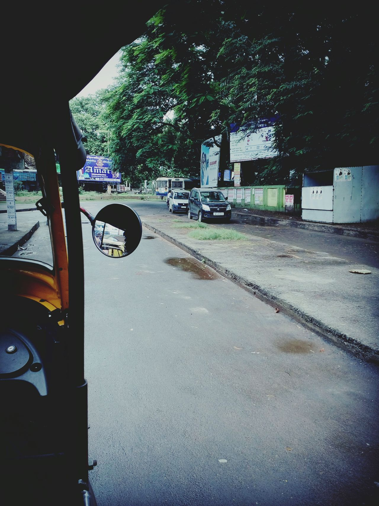 Auto Rekshaw Indian Roadways Rain Travelling Road Transport Retrica