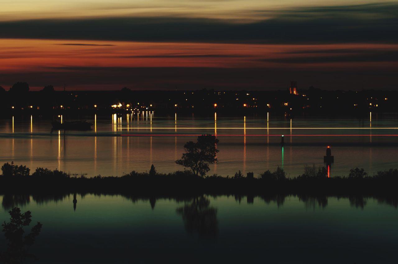 Water Water Reflections Durgerdam Reflection Nightphotography Night Long Exposure Sky Boats
