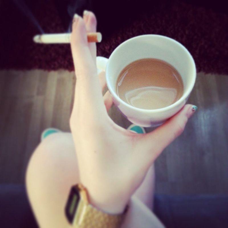 DAS Frühstückchen. Kaffee Kippe Gold Diggaaah