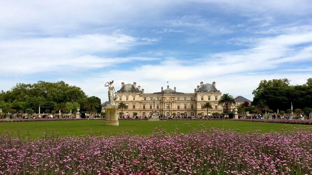Jardin Du Luxembourg Architecture Flower Building Exterior Built Structure Travel Destinations Outdoors Paris ❤ Springtime