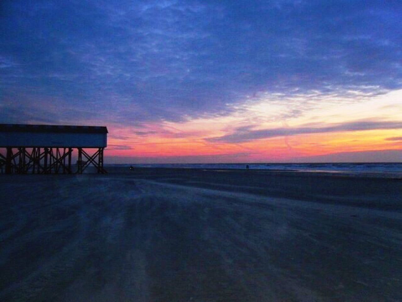 Sunset Scenics Tranquil Scene Sky Idyllic Beauty In Nature Blue Water Dramatic Sky Nature Sea Cloud - Sky Calm Majestic Outdoors St. Peter Ording Eiderstedt Nordfriesland Northsea Nordseeküste Germany