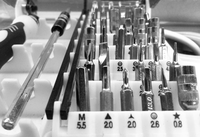 Abundance Arrangement Black And White Blackandwhite Choice Collection Equipment Group Of Objects In A Row Kitchen Utensil Large Group Of Objects Machinery Order Repetition Shelf Side By Side Still Life Toolbox Tools Utensils Variation Handmade