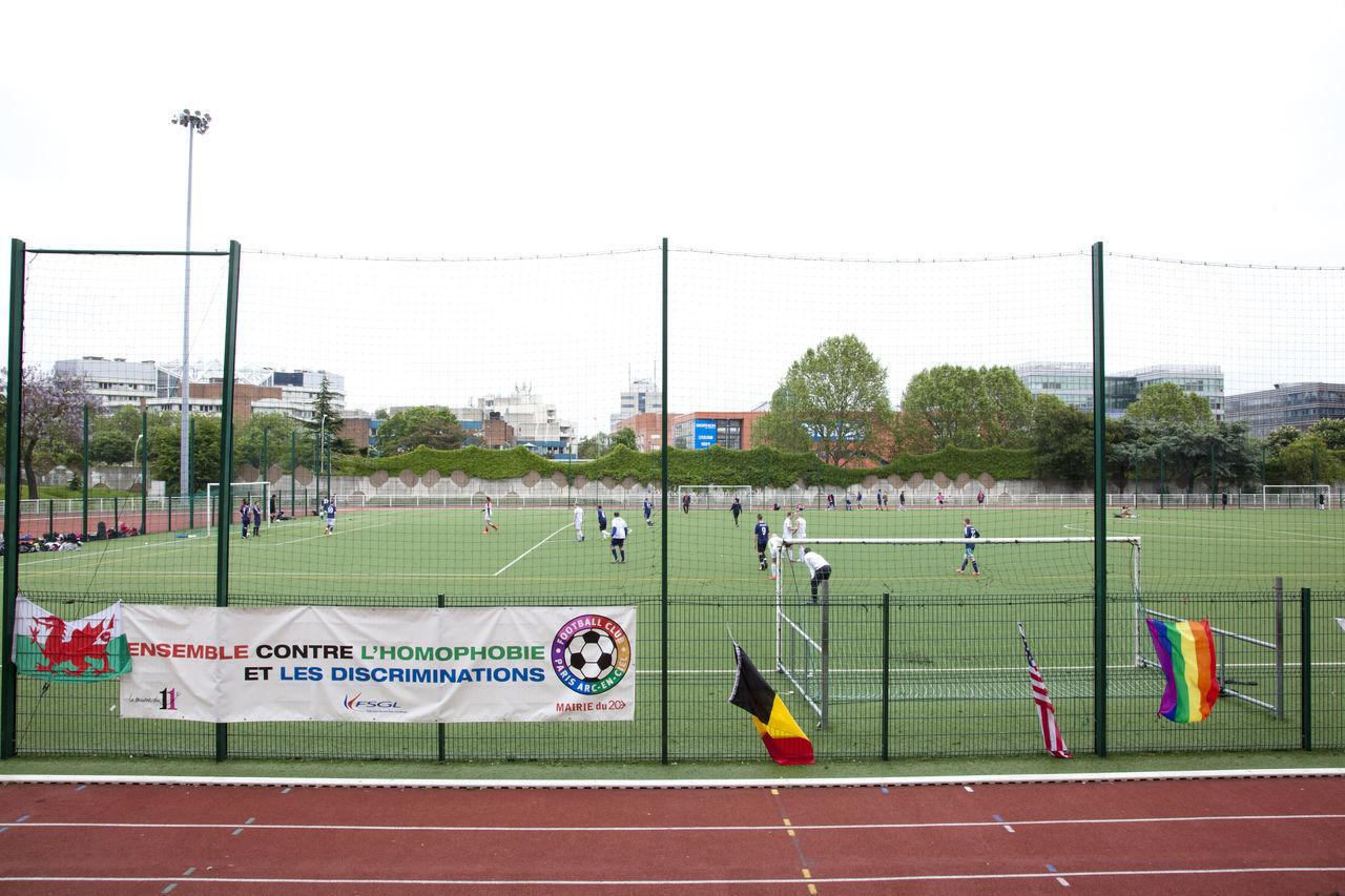 Day Flag Foot Football Football Stadium Freedom GenderEquality Homophobia Information Sign Lgbt Outdoors Pole Rainbow Flag Rainbowflag Sky Stadium