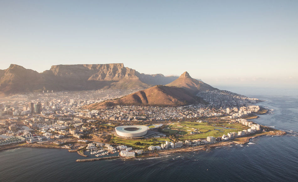 Beautiful stock photos of africa, Cape Town, Clear Sky, Day, High Angle View