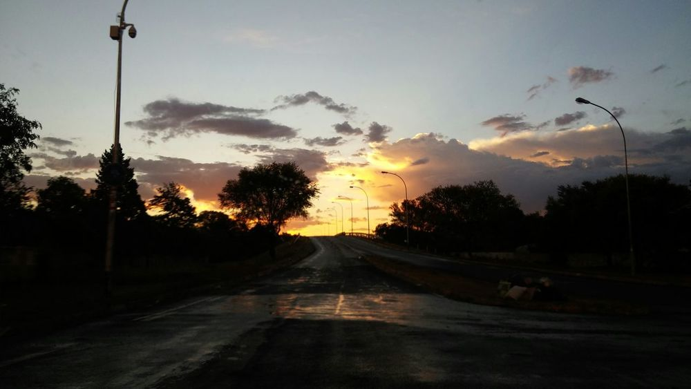 South Africa Sunset After The Rain Clouds And Sunset