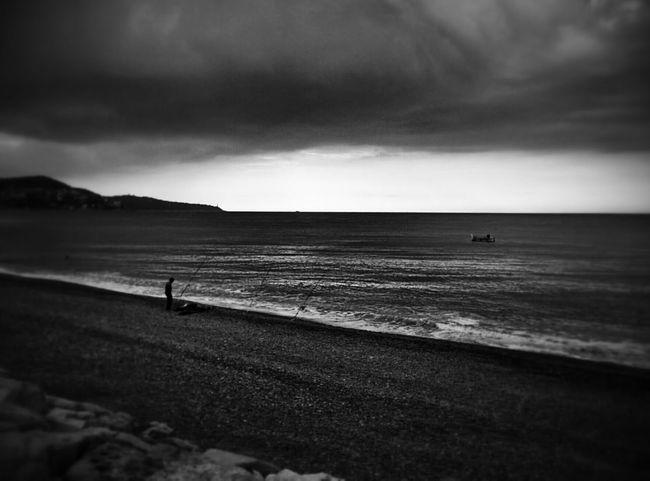 B&w Landscape Nice / Nizza Sea And Sky Dramatic Sky EyeEm Gallery Monochrome Sky And Clouds Landscape_photography Contrast Eyemphotography EyeEm Best Shots EyeEm Best Edits