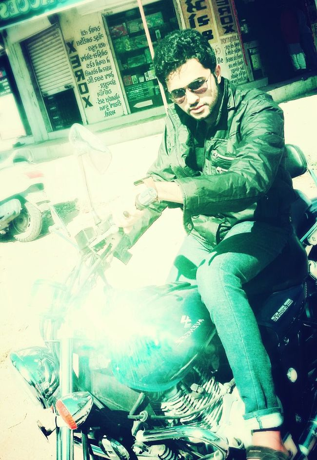 That's Me Coolpic Today's Hot Look Felling Awesome Beinghuman Rayban Biketime Cooljacket Lovely Weather Romantic Mood 👈👈