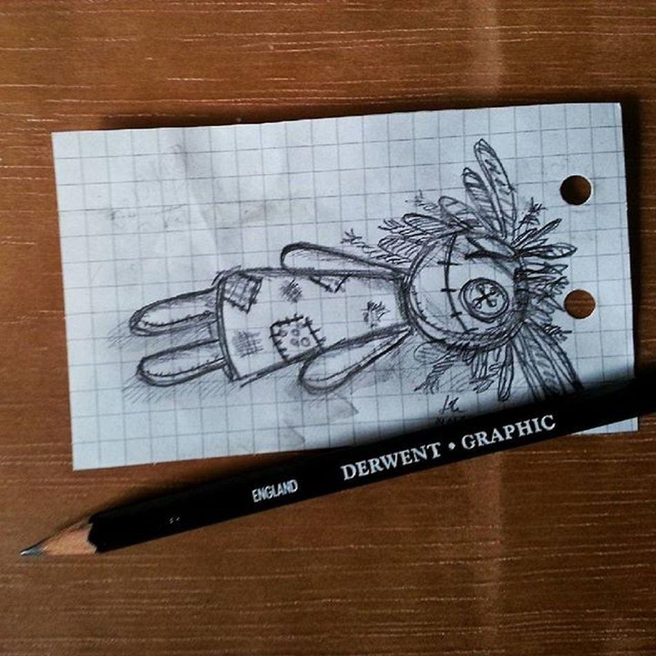 Doodling... :) Derwent Derwentgraphic 5B Phonedoodle Doodle Artist Drawing Woodoo Woodoodoll Arts_help Art Artworks Sketch Artstagram Instaart Igart Pencil Greyscale