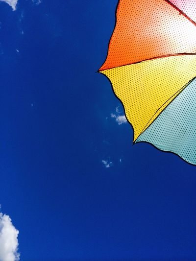 Rainbow Umbrella Batangas Low Angle View Blue Sky Outdoors Clear Sky No People Day Multi Colored An Eye For Travel The Graphic City