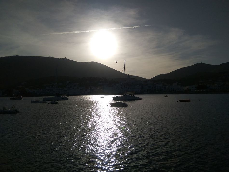 Sunset in Cadaques Sun Water No People Tranquility Reflection Beauty In Nature Sunset Landscape Sky Silhouette Sea Beach Mobilephotography Taking Photos Cala Tranquility From My Point Of View Eyem Best Shot - My World Cadaqués Anochecer No Edit/no Filter Sin Filtros