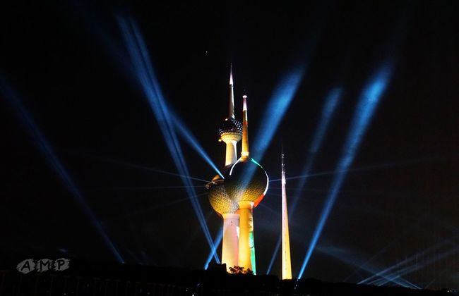 Kuwait Towers fireworks AMP Photography