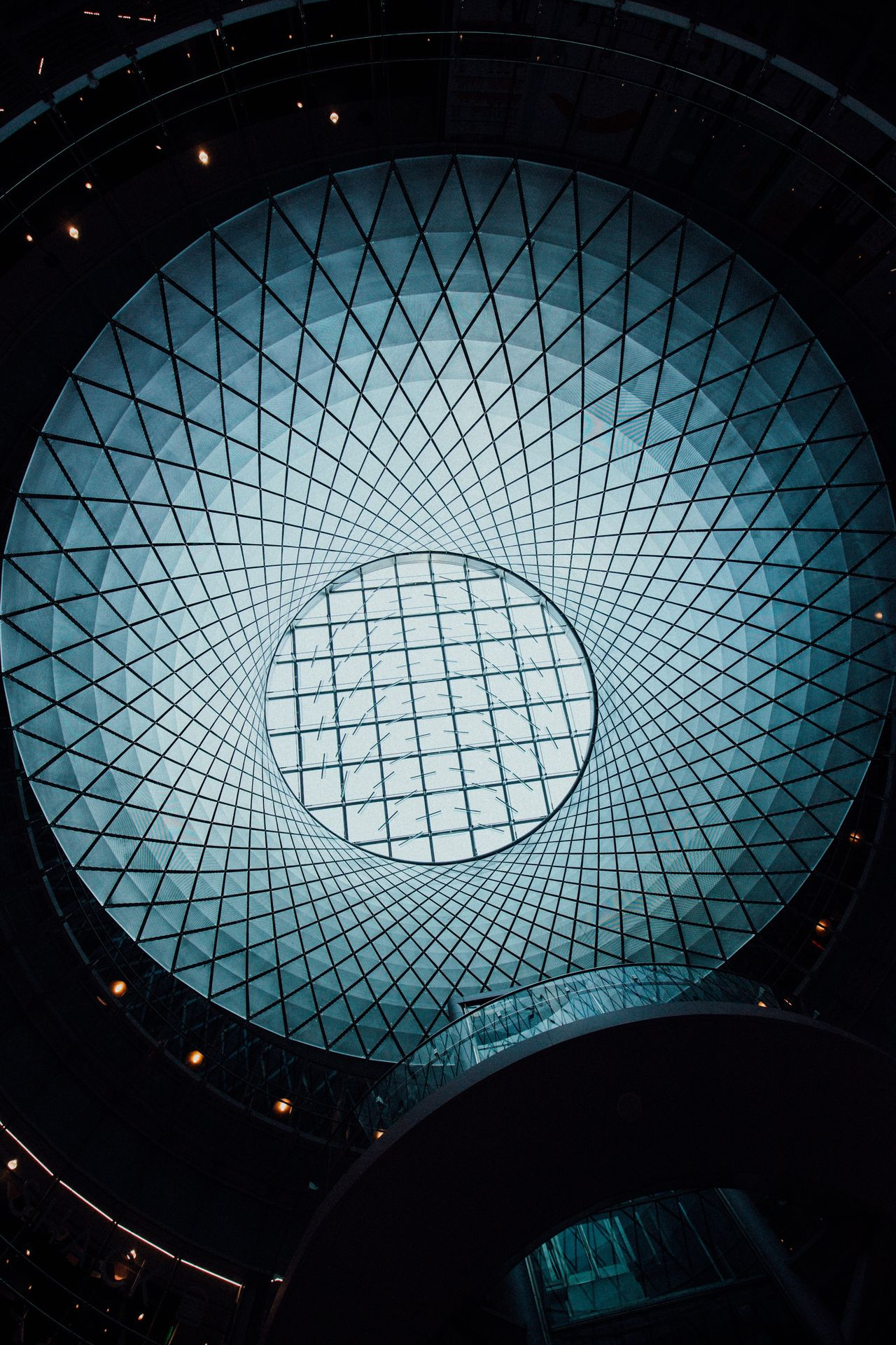Low Angle View Architecture Built Structure Modern Indoors  Ceiling No People Pattern Building Exterior City Day Skyscraper Architectural Design Illuminated Close-up Science Fiction Architecture Fulton Subwaystation