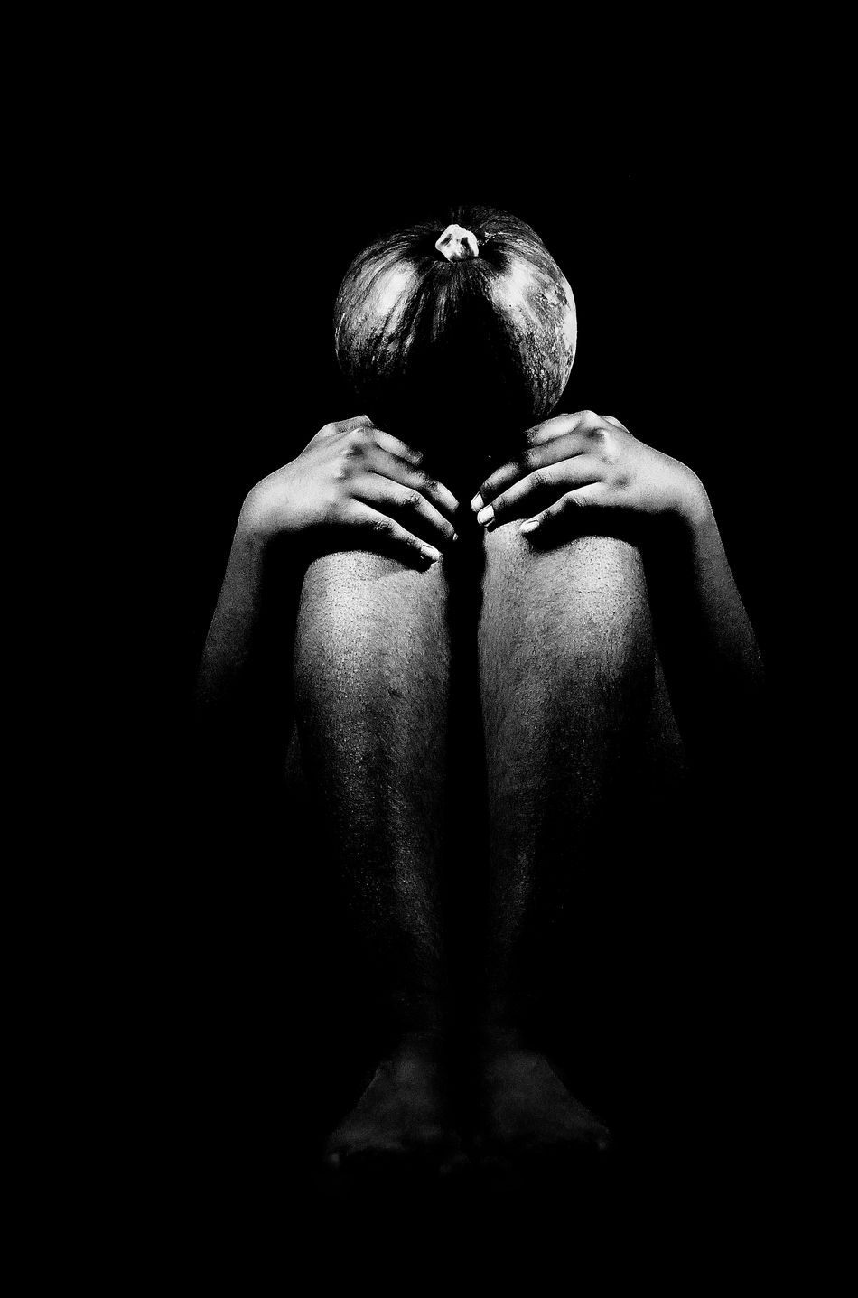 An Absurd Thought AbstractAbsurd Thoughts Alone Black And White Concept Creativity Idea Ideas Mood Person Portrait studio Fine Art Photography