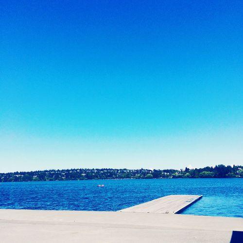 Blue sky. Blue water