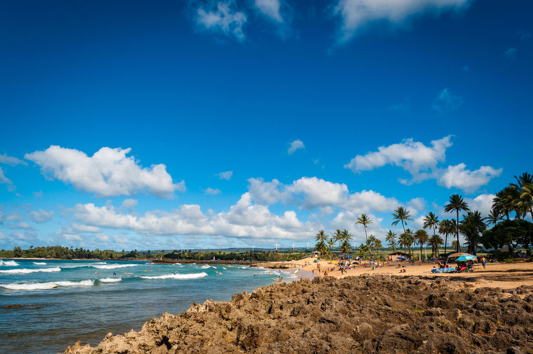 Beach Blue Sky Clouds And Sky North Shore Oahu Ocean Sand Surf Waves