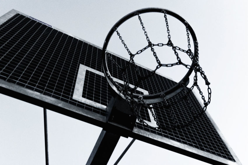 Basket Basketball Basketball Game Clean Day Low Angle View Sky Urban White