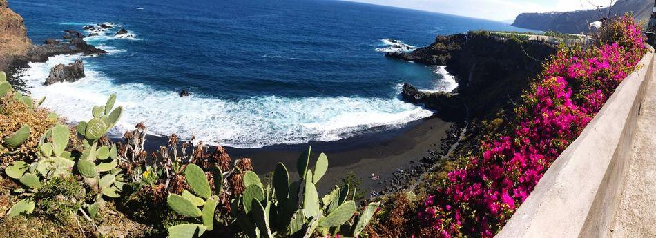 La belleza del norte de Tenerife playa naturaleza alto ángulo vista en agua de mar natural al aire libre no planta scenics de flor de día rock personas - objeto acantilado escena tranquilo crecimiento tranquilidad montaña panorámica sky playa bollullo Nature High Angle View
