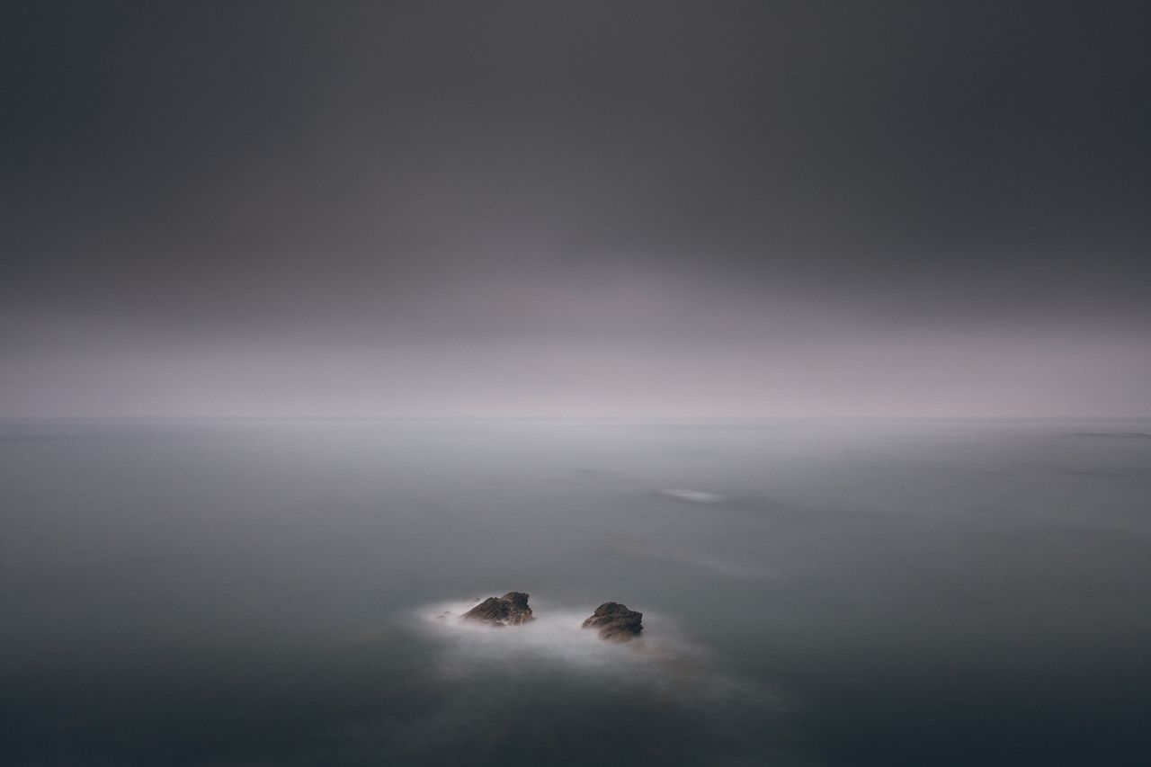 New Frontiers Water Beauty In Nature Tranquil Scene Tranquility Horizon Over Water Outdoors No People Scenics Landscape Minimalistic Portugal Portugal Is Beautiful Milfontes Oceanside Longexposure Rocks And Water Morning View