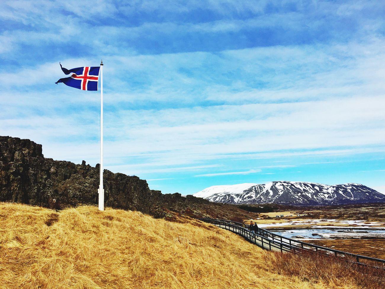 Flag Iceland Mountains Pingvellir History Historical Monuments Iceland_collection Iceland116