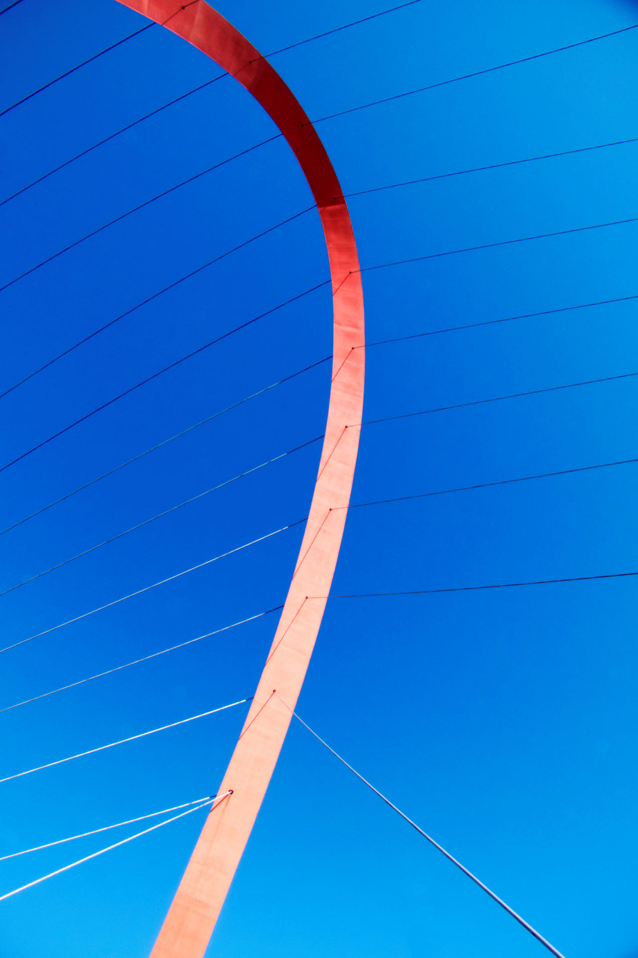 Arch Architectural Detail Architectural Feature Blue Bridge Clear Sky Close-up Connection Contemporary Architecture Crossing Borders Day Engineering Feat No People Olympic Olympic Park  Outdoors Real People