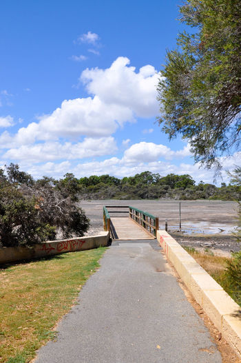 Bridge - Man Made Structure Cloud Cloud - Sky Day Drought Green Greenery Jetty Lake Lakebed Landscape Market Garden Swamp Nature Observation Point Outdoors Peaceful Pier Plants Sky Spearwood The Way Forward Tree Western Australia Wetland Wheelchair Access