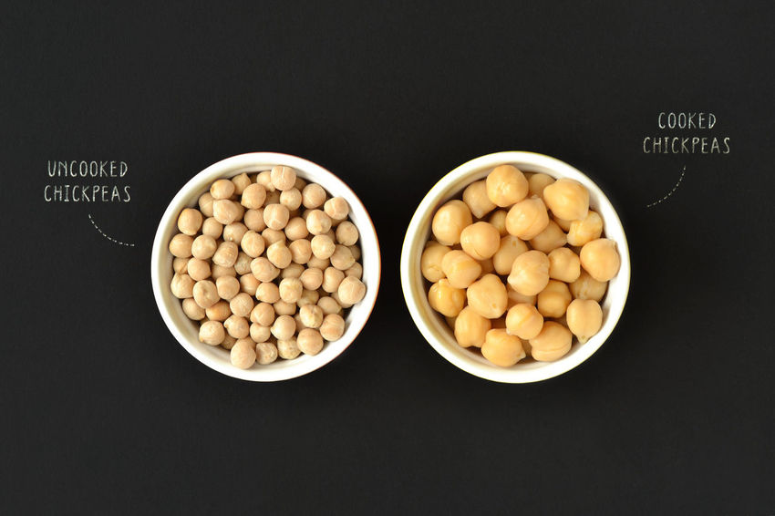 Cooked and uncooked chickpeas Benefit Cuisine Diet Garbanzo Natural Vegetarian Bean Blood Pressure Chickpea Chickpeas Cholesterol Closeup Cooked Diabetes Food Grain Health Healthy Eating Legume Nutrition Nutritious Organic Protein Uncooked Vegan