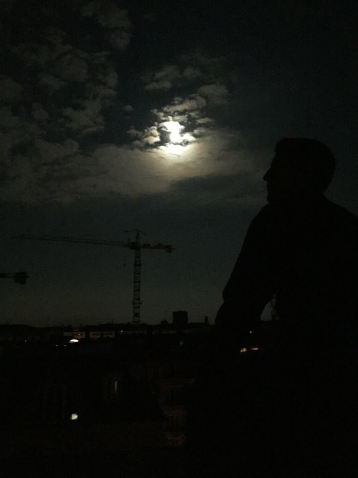 Berlin Roof Rooftop Berlinatnight Underthefullmoon Silhouette Moon Moonlight