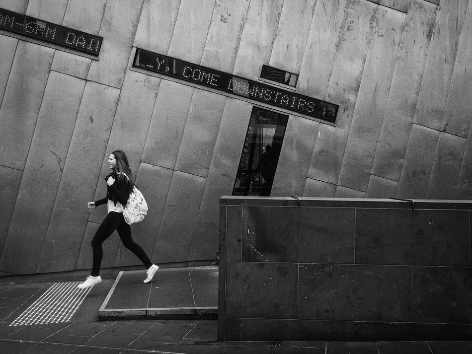 Streetphotography Streetphoto_bw Streets Of Melbourne Everydayaustralia Blackieapp Adobelightroommobile MelbournePhotographer Monochrome Shootermag Shootermag_australia Shotwithiphone6S Mobilephotography IPhoneography People Watching Blackandwhite