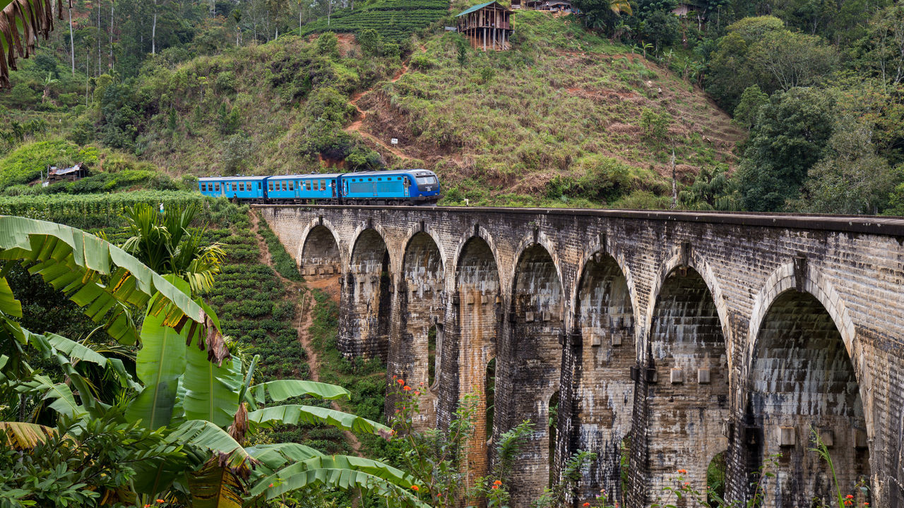 Nine Arches Bridge, Demodara, Sri Lanka Arches Architecture Bridge Bridge - Man Made Structure Copy Space Demodara Mode Of Transport Nine Nine Arches Bridge No People Nuwaraeliya Outdoors Railway Sri Lanka Sri Lankan Tourism Train Transportation Travel Travel Destinations Viaduct