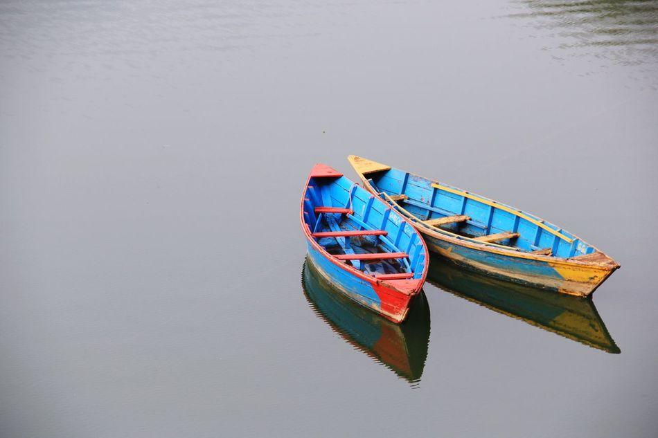 No People Boats Peace And Quiet Outdoors Phewa Lake Pokhara!