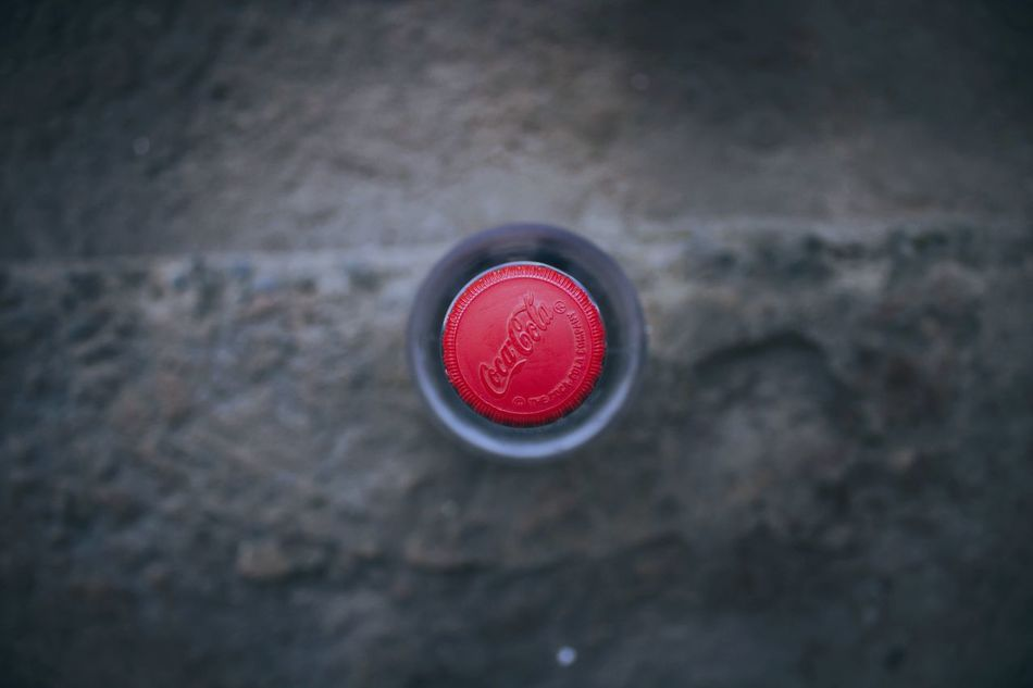 Coca-cola Close-up Day Outdoors Textured  Red Bottle Cap EyeEm Gallery Canonphotography Bottle Canon Drink