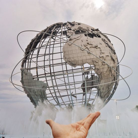 Unisphere Earth Park Metalsculpture New York NYC Photography NYC New York City My View Hands