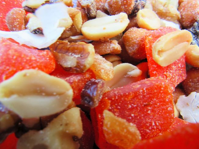 Trail Mix Appetizer Backgrounds Close-up Cooked Dessert Extreme Close Up Food Freshness Full Frame Indoors  Indulgence Meal No People Ready-to-eat Red Serving Size Snack Sweet Food Take Out Food Temptation Unhealthy Eating Vibrant Color