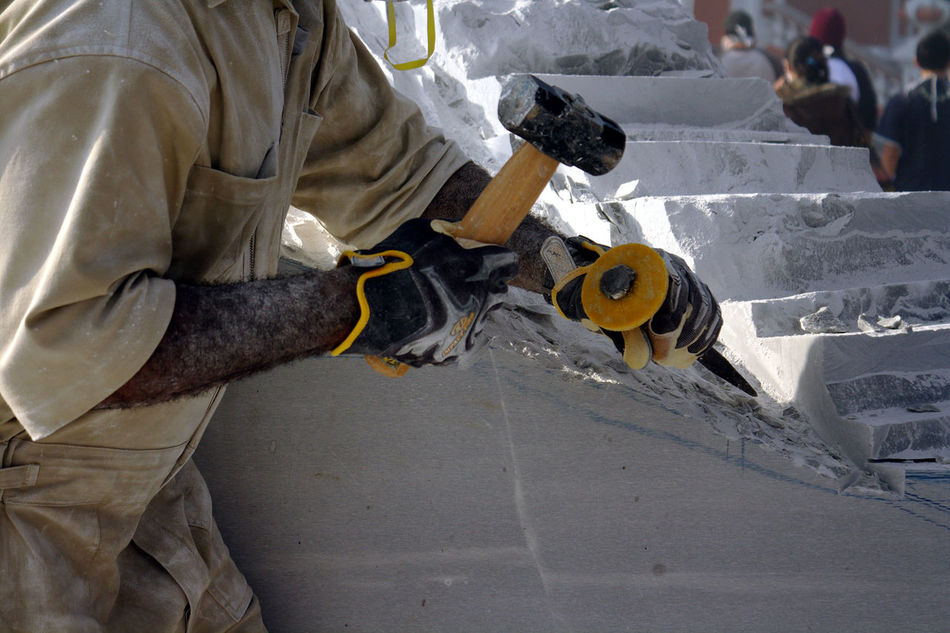 Artist Artist At Work Building Materials Construction Site Construction Worker Fine Art Photography From My Point Of View Gloves Hammer And Chisel Manual Worker Marble Marble Sculpting Marble Statue One Man One Person People Sculpting Marble Sculpture Still Life Uniform Work Gloves Work Uniform