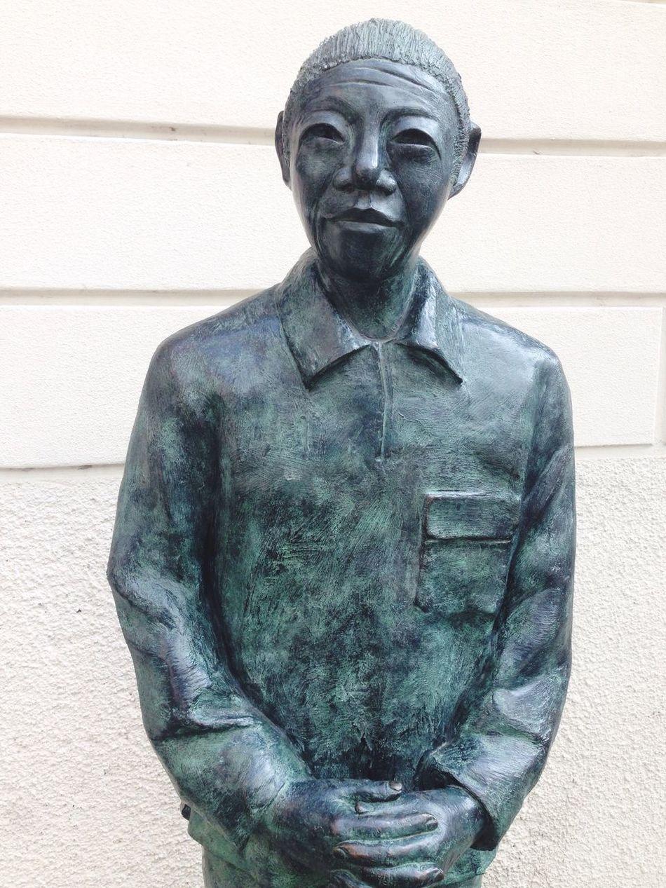 Nelson Mandela by Pietro Scampini - Mandela Statue Front View Sculpture Art Human Representation Celebrities Focus On Foreground Public Art World Peace Africa